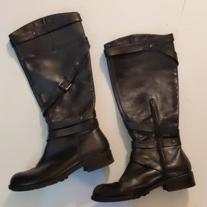 Anthropologie steep buckle tall boots-sz 9 1/2 B